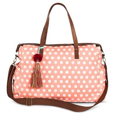 Women's Polka Dot Weekender Handbag Pink - Mossimo Supply Co