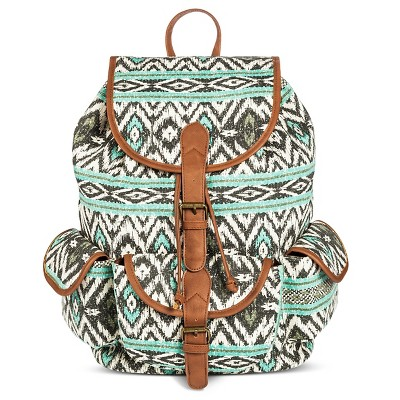 Women's Aztec Print Backpack Handbag Mint - Mossimo Supply Co.