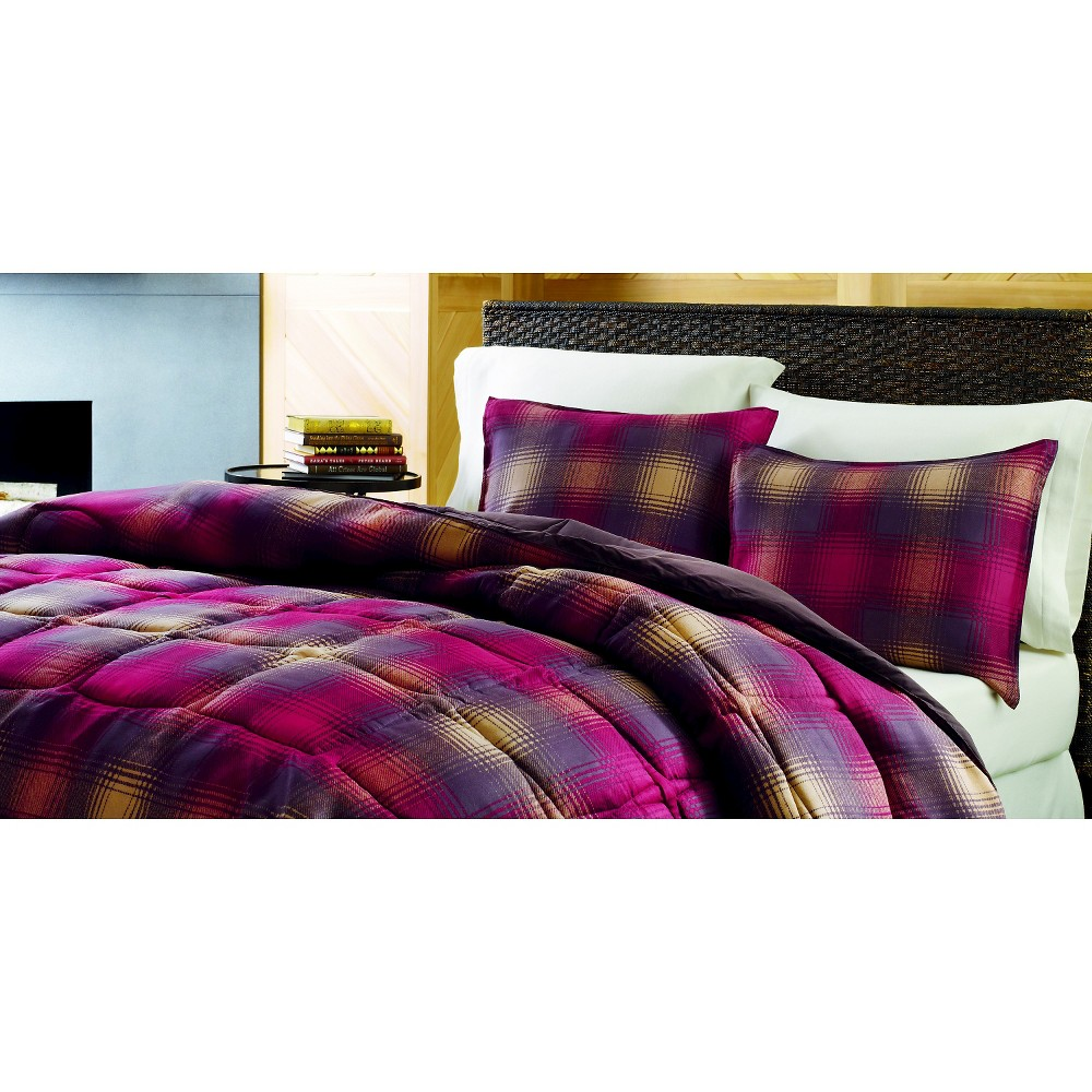 Eddie Bauer Nordic Plaid Comforter Mini Set - Red (Full/Queen), Multi-Colored