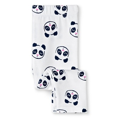 Baby Girls' Panda Print Leggings White  0-3 M - Circo™