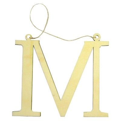 Gift Tag Monogram Letters Wood 1 CT - Spritz™