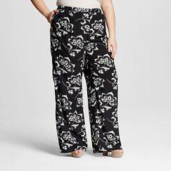 Women's Plus Size Printed Wide Leg Pant - Merona™