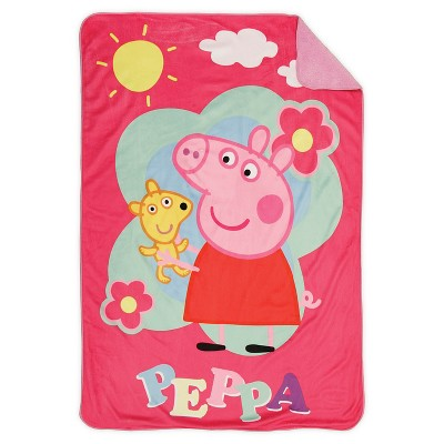 Peppa Pig Toddler Plush Blanket - Pink