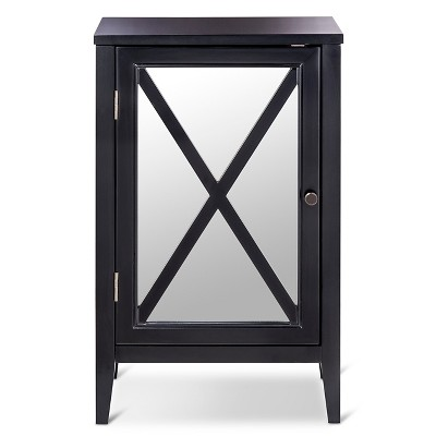 Wooddale One-Door Storage Cabinet Black - Threshold™