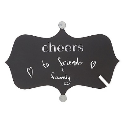 Letter2Word Hand Painted Cheers Chalkboard- Nickel