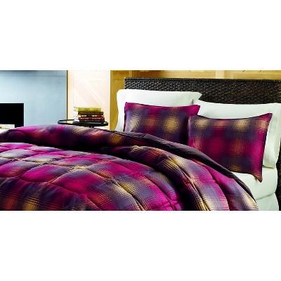 Eddie Bauer Nordic Plaid Comforter Mini Set - Red (King)