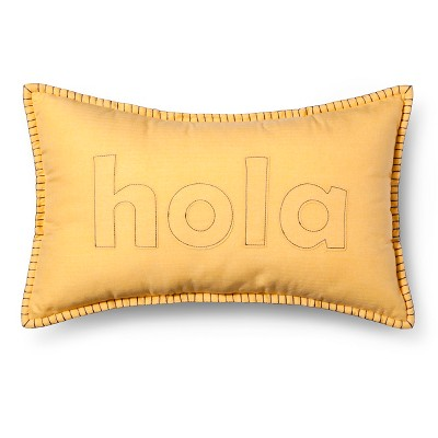 Hola Lumbar Throw Pillow - Yellow - Room Essentials™
