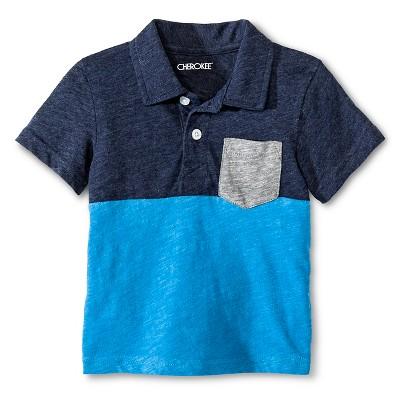 Toddler Boys' Polo Shirt Blue 12M - Cherokee®