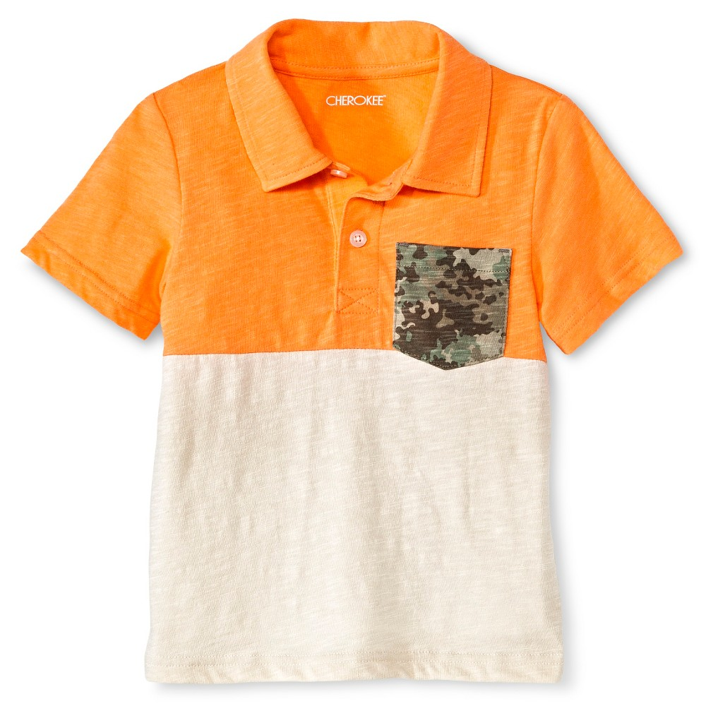 Toddler boys 39 polo shirt orange cherokee toddler boy 39 s for Toddler boys polo shirts