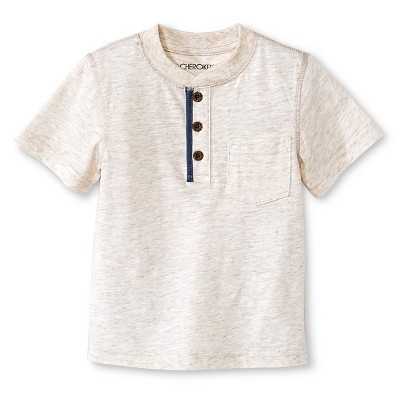 Baby Boys' Henley Shirt - Oatmeal Heather 12M - Cherokee®