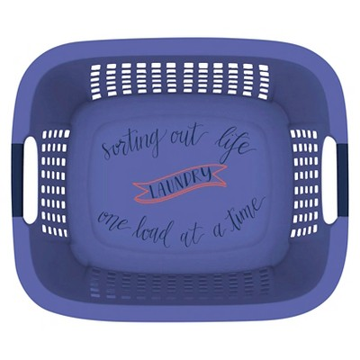 Home Logic 1.5 Bu Décor Laundry Basket - Blue