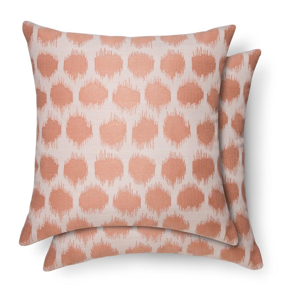 2 pack throw pillows dot