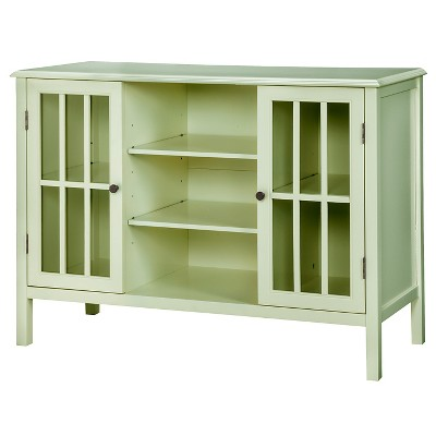 Windham Two-Door with shelves Storage Cabinet Green Garnish - Threshold™