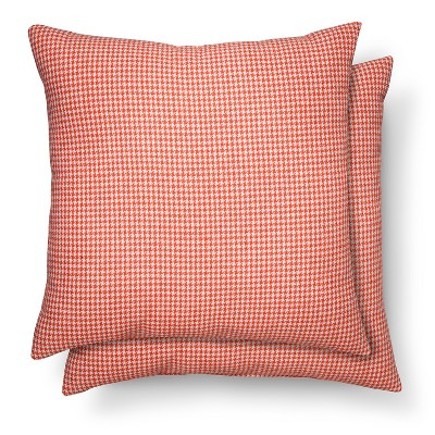 2 Pack Throw Pillows Houndstooth Coral – Threshold™