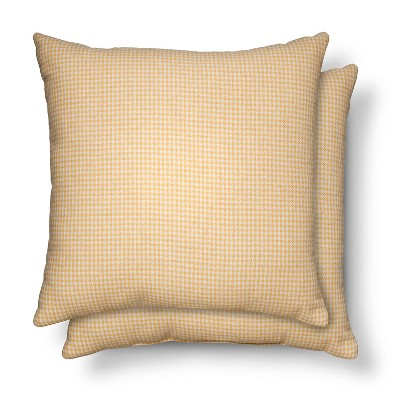 2 Pack Throw Pillows Houndstooth Yellow – Threshold™