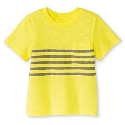 Male Activewear Tee Shirts Cherokee Chipper Yellow 12  MONTHS