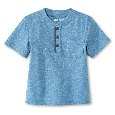 Baby Boys' Henley Shirt - Basin Blue 12M - Cherokee®