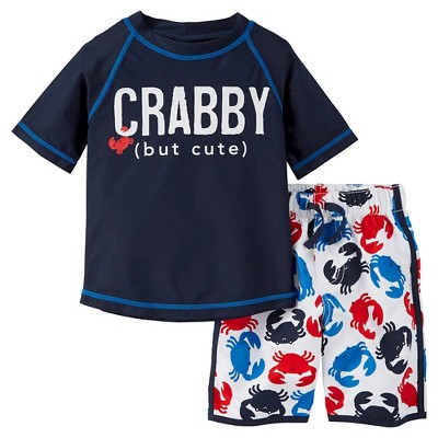 Just One You™ Made by Carter's® Boys' Crab Rash Guard Swimsuit Set 3M