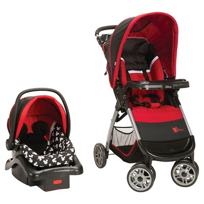 Disney Baby Amble Quad Travel System - Mickey Silhouette