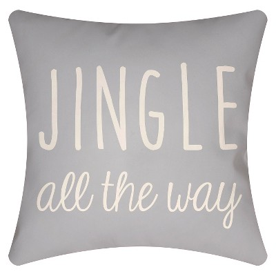 "Jingle Throw Pillow - Light Blue - (16""x16"") - Surya"