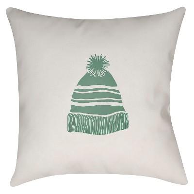 "Winter Cap Throw Pillow - Green - 18"" x 18"" - Surya"