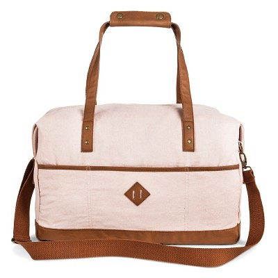 Women's Solid Canvas Weekender Handbag Pink - Mossimo Supply Co