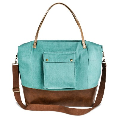 Women's Solid Canvas Tote Handbag Mint - Mossimo Supply Co