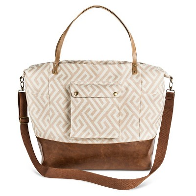 Women's Chevron Printed Tote Handbag Tan - Mossimo Supply Co