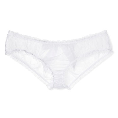 Jezebel® Women's Mesmerize Panty with Satin Bow - White L