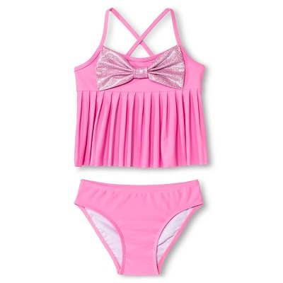 Baby Girls' Tankini Set with Bow Pink 9M - Circo™
