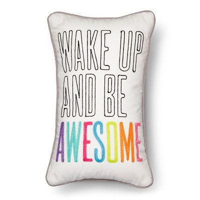 "Wake Up Throw Pillow - 20""x12"" - Multicolor - Pillowfort™"