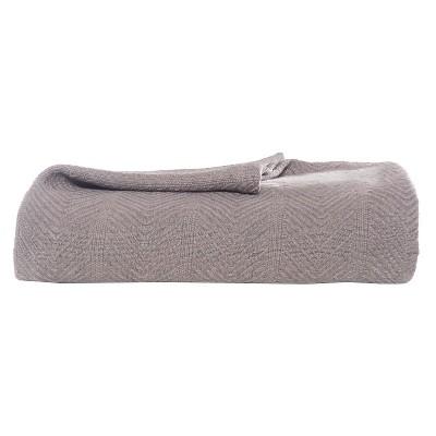 Eddie Bauer® Herringbone Cotton Blanket - Mushroom (Twin)
