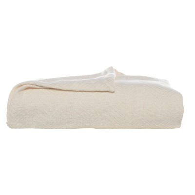 Eddie Bauer® Herringbone Cotton Blanket - Bone (King)
