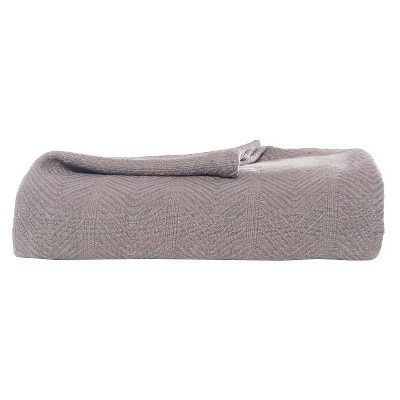Eddie Bauer® Herringbone Cotton Blanket - Mushroom (Full/Queen)