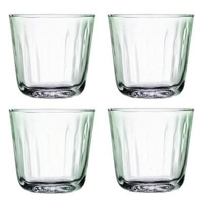 Mia Tumbler 4 Pc Set Handmade 100% Recycled Glass