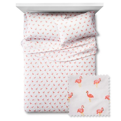 Flamingos Sheet Set - Twin - 3 pc - White - Pillowfort™