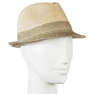 Women's Straw Hat Fedora Tan with Shine - Merona™