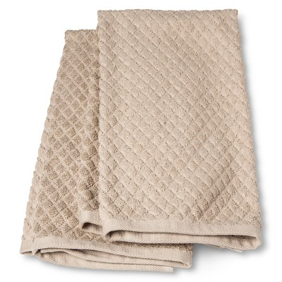 Terry Kitchen Towel Tan (2 Pack) - Threshold™