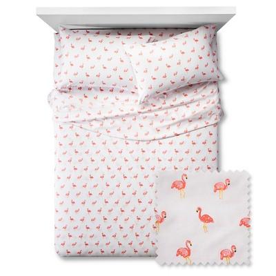 Flamingos Sheet Set - Full - 4 pc - White - Pillowfort™