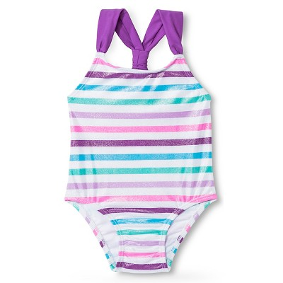 Baby Girls' Stripe 1-Piece Swimsuit Rainbow 18M - Circo™