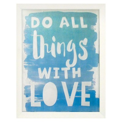 Do All Things with Love Screen Printed Glass Art - Pillowfort™