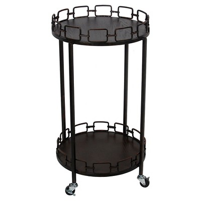Privilege Small Bar Cart - Rusted Black