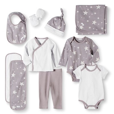 Baby Nay Baby Layette Sets - Casual Gray 0-3 M