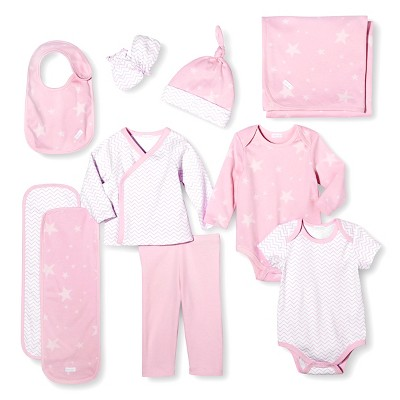 Baby Nay Baby Layette Sets - Dusty Pink 0-3 M