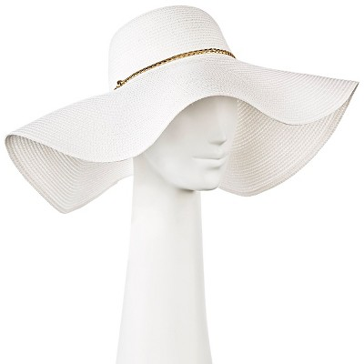 Women's Oversized Floppy Straw Hat - White - Merona™
