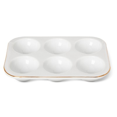 6-Egg Crate White with Real Gold - Threshold™
