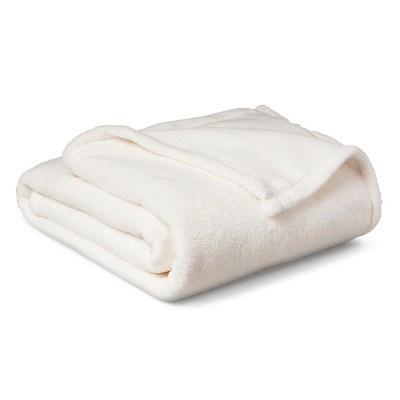 Plush Blanket - Full/Queen - Cream - Pillowfort™