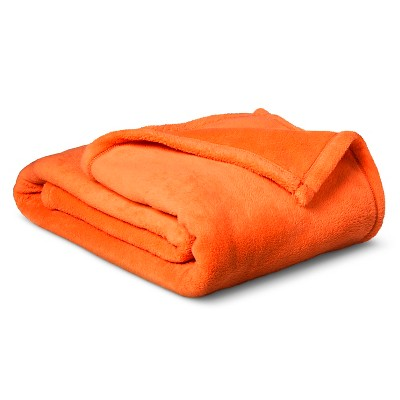 Plush Blanket - Full/Queen - Orange - Pillowfort™
