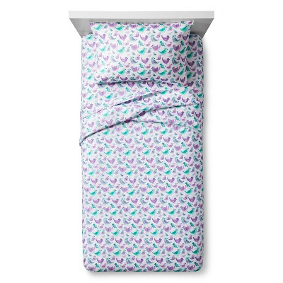 Songbird Social Sheet Set - Queen - Purple - Pillowfort™