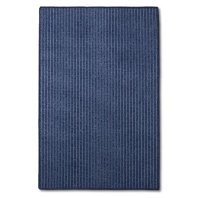 "Maples Tonal Stripe Doormat - Blue (40""x66"")"